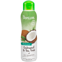 "Шампунь для собак Tropiclean Oatmeal & Tea Tree Pet Shampoo ""Овсяный"" лечебный, 355 мл"