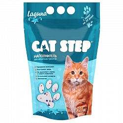 Силикагелевый наполнитель для кошачьего туалета Cat Step Laguna, 3,8 л